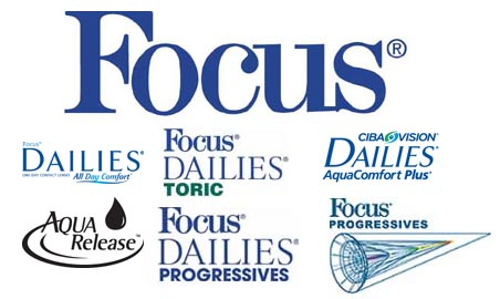 Focus contact lenses